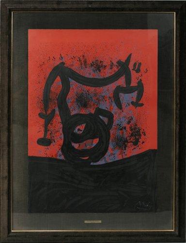 122014: JOAN MIRO (SPANISH 1893-1983), COLOR LITHOGRAPH