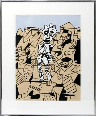 JEAN DUBUFFET (FRENCH 1901-1985), COLOR SILKSCR
