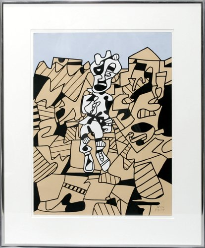 122015: JEAN DUBUFFET (FRENCH 1901-1985), COLOR SILKSCR