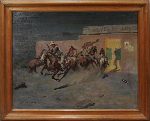 122018: LEONARD REEDY (AMERICAN 1899-1956), OIL ON CANV