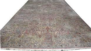 PERSIAN WOOL CARPET, SEMI-ANTIQUE, C. 15' X 21