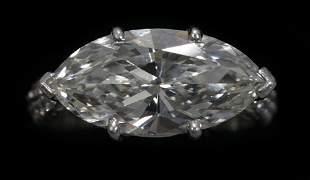 MARQUISE CUT 4.40 CT. DIAMOND, VS2, L COLOR PLA