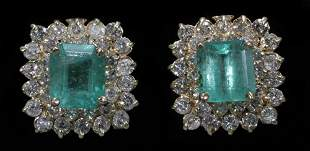 585KT YELLOW GOLD 3.86 CT. NATURAL EMERALD PIER