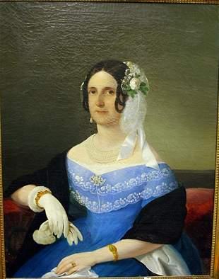 ANTON EINSLE AUSTRIAN, 1801-1871, OIL ON CANVAS