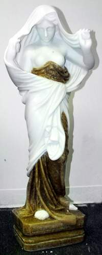 MARBLE FIGURE OF A CLASSICAL STYLE FEMALE, H 38