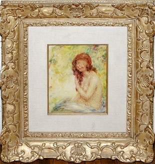 """LUCIEN BOULIER, OIL ON MASONITE, 12'' X 10"""", """"N"""