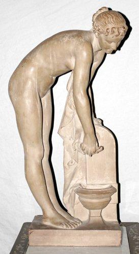 122305: SCHOENEWERK, TERRA COTTA SCULPTURE OF VENUS BY