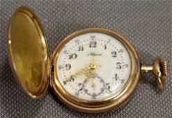 ALPINE 7 JEWEL SWISS GOLD FILLED POCKET WATCH,