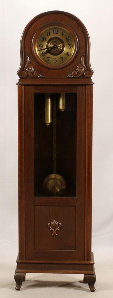 GERMAN, OAK GRANDFATHER CLOCK, C. 1900