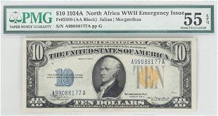 US 10DOL SILVER CERTIFICATE EMERGENCY ISSUE