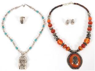SOUTHWEST STYLE NECKLACES EARRINGS RING 5 PCS