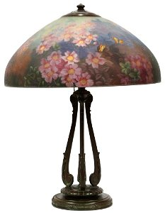 HANDEL 6688 TABLE LAMP WITH REVERSE PAINTED SHADE