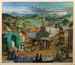PATRICK MORGAN OIL ON CANVAS, 1933