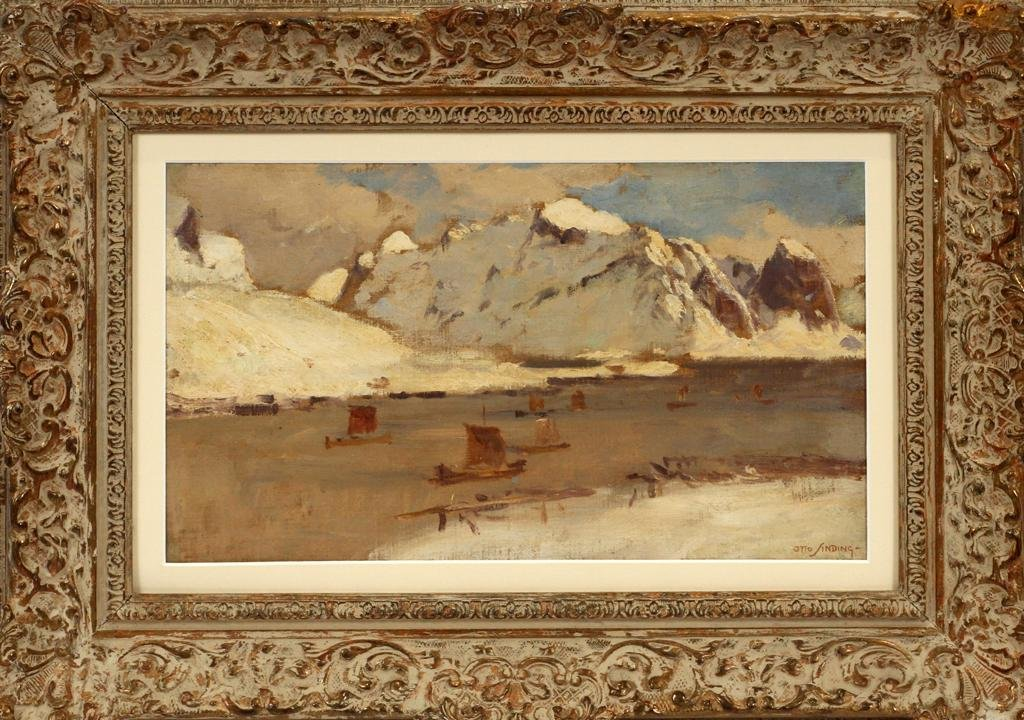 OTTO LUDVIG SINDING OIL ON CANVAS BOARD