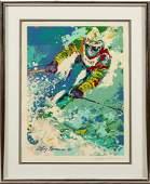 LEROY NEIMAN SERIGRAPH 1980 OLYMPIC SLALOM