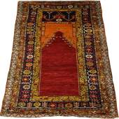 TURKISH WOOL PRAYER RUG, CIRCA 1900