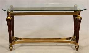 CONTEMPORARY, GLASS TOP SOFA TABLE