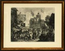 WILLIAM HOGARTH ENGRAVING SOUTHWARK FAIR