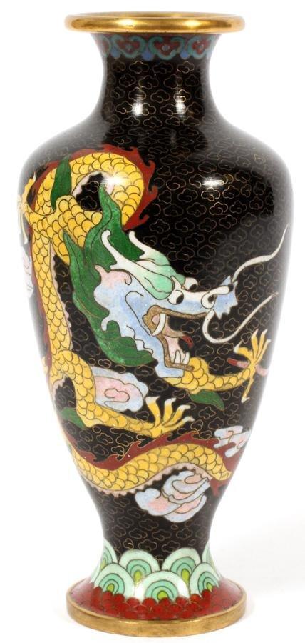 JAPANESE CLOISONNE ENAMEL DRAGON VASE