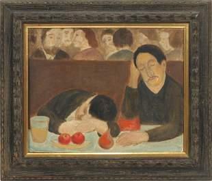 ABRAHAM WALKOWITZ, OIL ON CANVAS, 1909