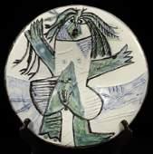 PABLO PICASSO CERAMIC PLATE 1963 97100