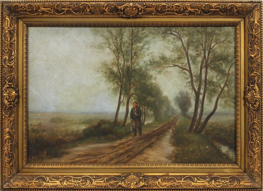 F. HAROLD HAYWARD OIL  ON CANVAS, LANDSCAPE,  1889