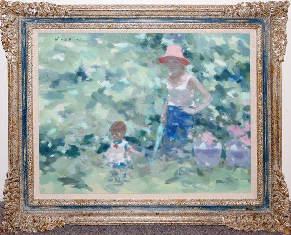 062015: ANDRE GISSON OIL DEPICTS MOTHER AND CHILD