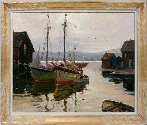 062018: ANTHONY THIEME OIL BOATS AT NEW ENGLAND DOCK