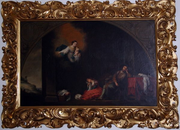 062022: OLD MASTER OIL MAN, WOMAN W/VISION OF MADONNA