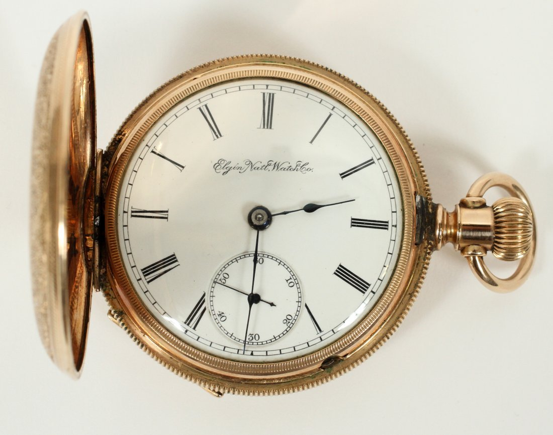 ELGIN NATIONAL WATCH CO. GOLD PLATED POCKET WATCH