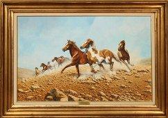 "BONNIE L. MARRIS OIL ON BOARD, ""WILD FREEDOM"""