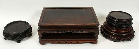 CHINESE TEAKWOOD STANDS, 6 PCS.