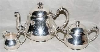 071038 CHRISTOFLE SILVERPLATE TEA SET THREE PIECES