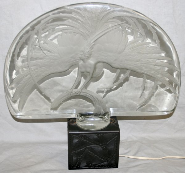"071269: LALIQUE ""FIREBIRD"" CARVED CRYSTAL SCULPTURE"