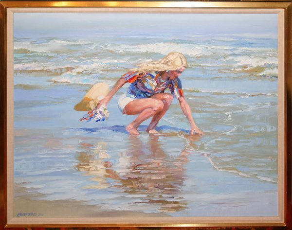 "072004: HOWARD BEHRENS OIL ON CANVAS, 1982, 32"" X 28"""
