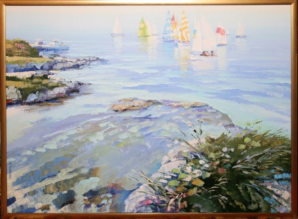 072005: HOWARD BEHRENS OIL ON CANVAS, 1982, REGATTA