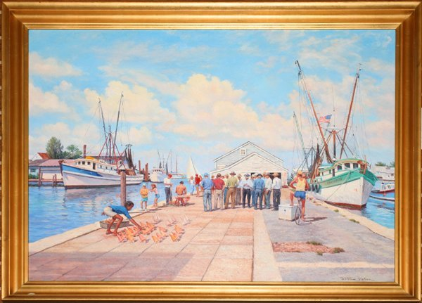 "072007: WILLIAM NELSON OIL ""DOCK IN KEY WEST"""