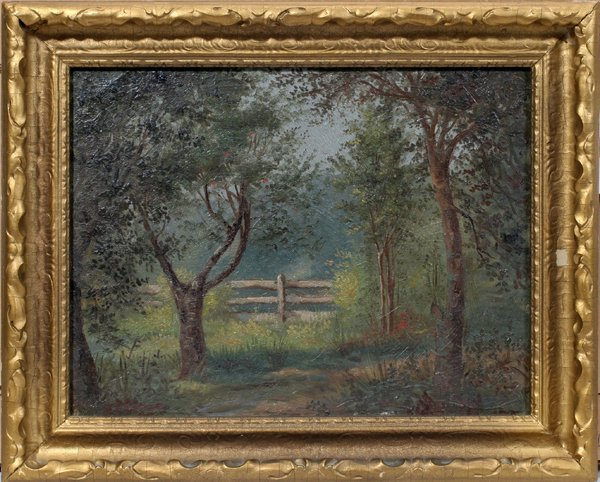 072014: G.M.OTTINGER OIL LANDSCAPE BY OTTINGER'S HOME