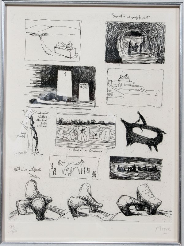 072021: HENRY MOORE ETCHING STUDIES FOR SCULPTURE