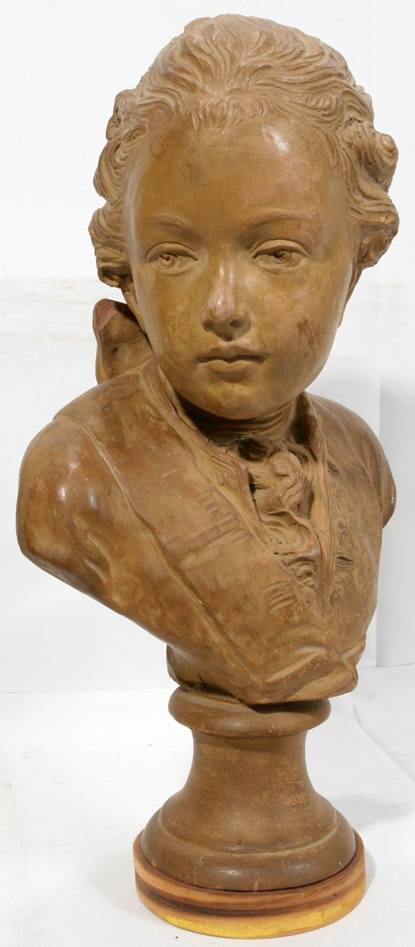 072024: TERRA COTTA BUST OF A YOUNG GENTLEMAN