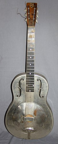 010256: NATIONAL RESOPHONIC ACOUSTIC GUITAR, PRE1950