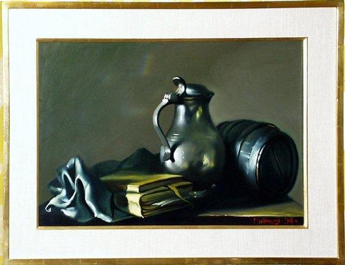012007: M.W. HUGGINS (AMERICAN 20TH C.), OIL ON CANVAS,