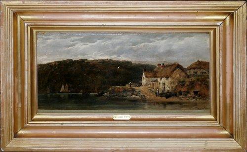 """012015: WILLIAM PITT (UK D. 1890), OIL ON CANVAS, """"NEAR"""
