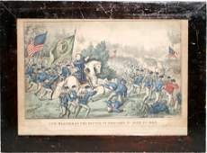 012115 CURRIER  IVES LITHOGRAPH GENERAL MEAGHER AT