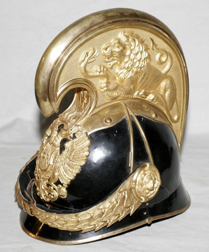 012371: PRUSSIAN OFFICER BRASS DOUBLE EAGLE HEADS BRASS