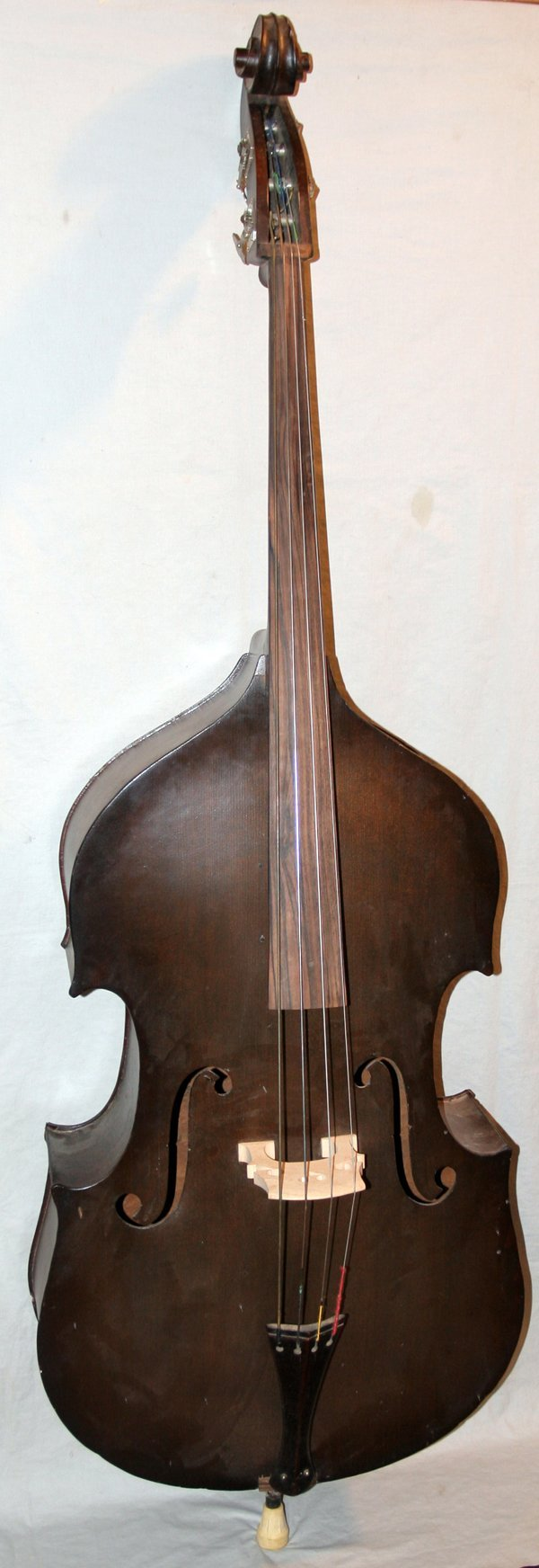082186: GIBSON VINTAGE DOUBLE BASS, H 6'
