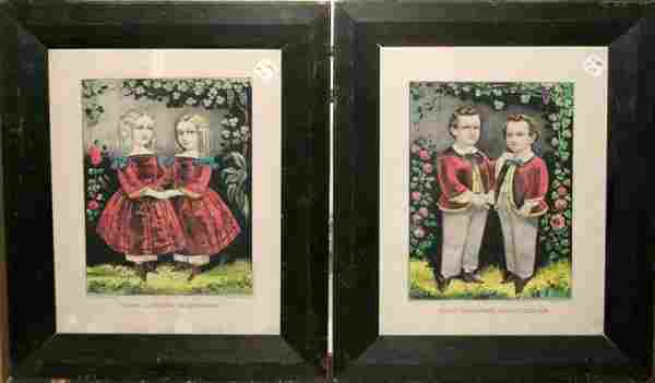 "082455: CURRIER & IVES LITHO ""THE LITTLE BROTHERS"""