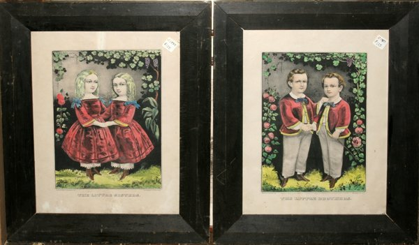 """082455: CURRIER & IVES LITHO """"THE LITTLE BROTHERS"""""""