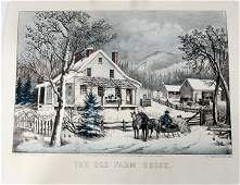 082513 CURRIER AND IVES HAND COLORED LITHOGRAPH