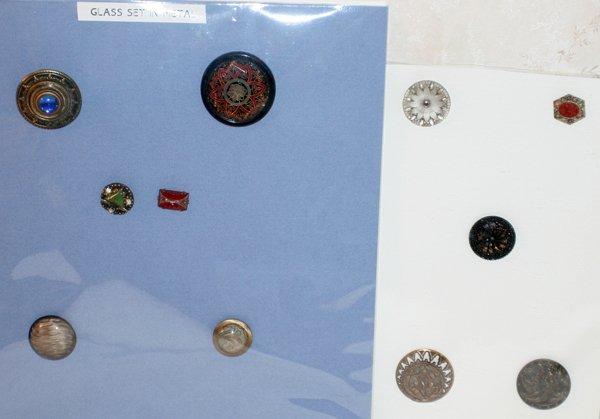 093012: ART NOUVEAU GLASS & METAL BUTTONS, ELEVEN
